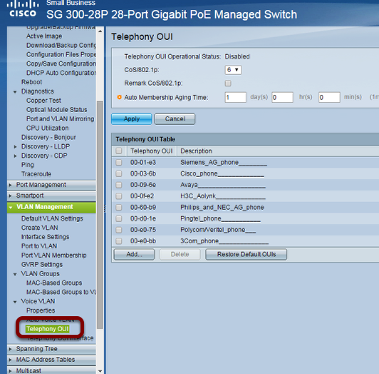 Configure a Cisco SG300 for Auto Voice VLAN Setup – LAR Online